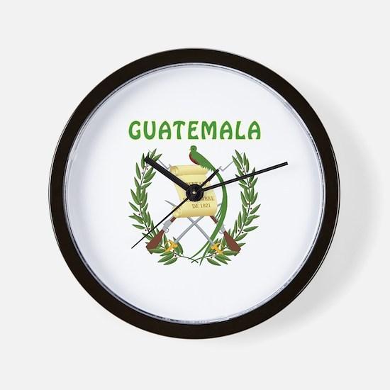 Guatemala Coat of arms Wall Clock