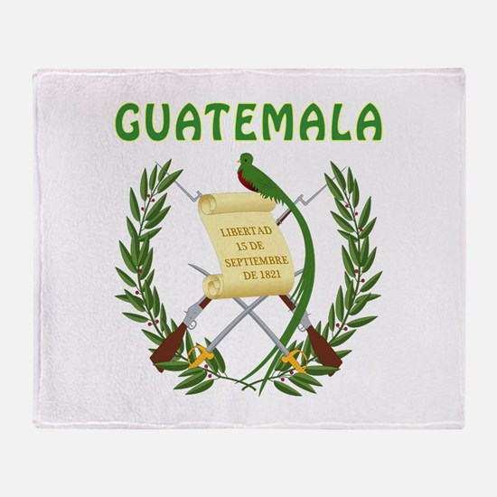 Guatemala Coat of arms Throw Blanket