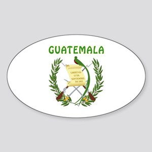 Guatemala Coat of arms Sticker (Oval)