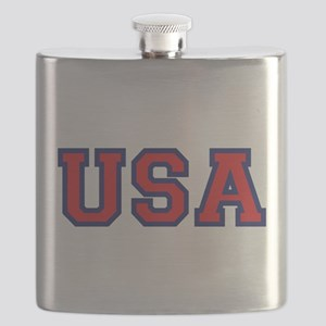 USA Logo Flask