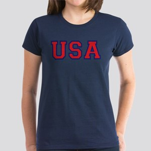 USA Logo Women's Dark T-Shirt