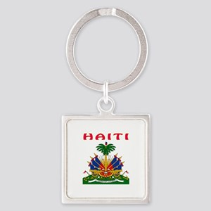 Haiti Coat of arms Square Keychain