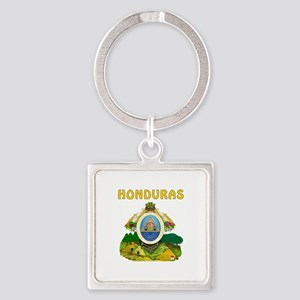 Honduras Coat of arms Square Keychain