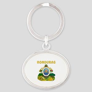 Honduras Coat of arms Oval Keychain