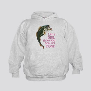 Let a Girl Show you How Kids Hoodie