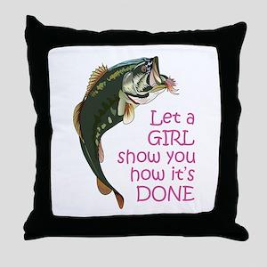 Let a Girl Show you How Throw Pillow