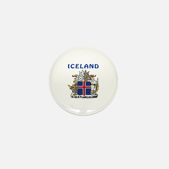 Iceland Coat of arms Mini Button