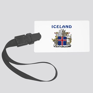 Iceland Coat of arms Large Luggage Tag