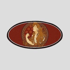 Art Nouveau Long Haired Woman Patches