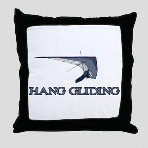 Hang Gliding Throw Pillow