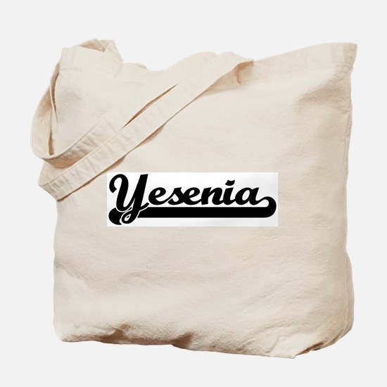 Black jersey: Yesenia Tote Bag