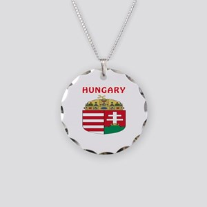 Hungary Coat of arms Necklace Circle Charm