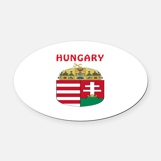 Hungary Coat of arms Oval Car Magnet