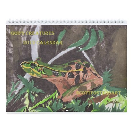 Frog- God's Creatures Wall Calendar