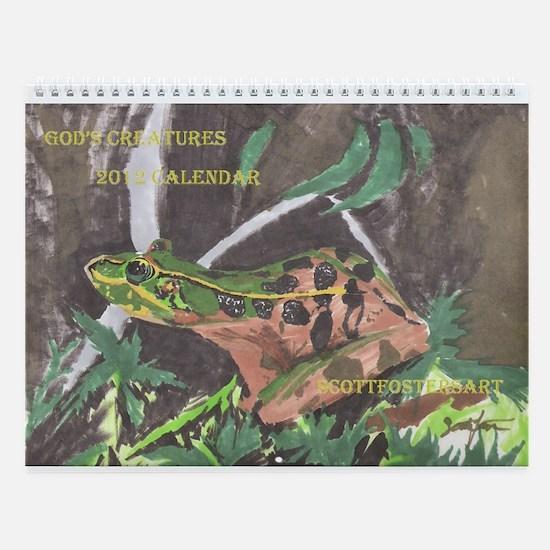 Frog- God's Creatures Wall Calendar