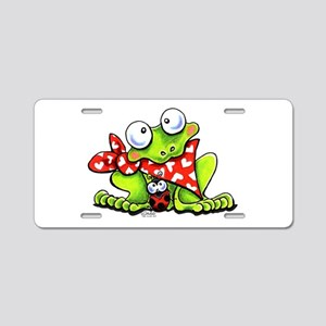 Blushing Frog Aluminum License Plate