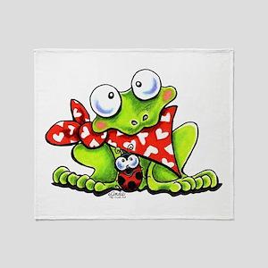 Blushing Frog Throw Blanket