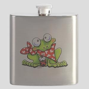 Blushing Frog Flask
