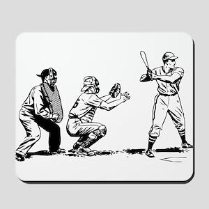 Batter Catcher Umpire Mousepad