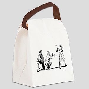 Batter Catcher Umpire Canvas Lunch Bag