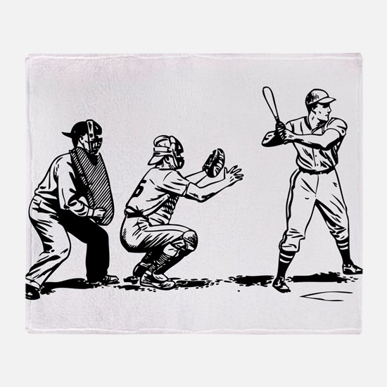 Batter Catcher Umpire Throw Blanket