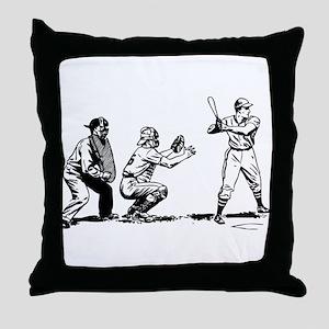 Batter Catcher Umpire Throw Pillow