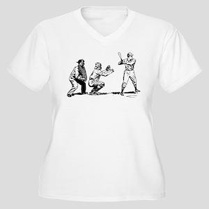 f0e1ebda10487 Batter Catcher Umpire Women s Plus Size V-Neck T-S