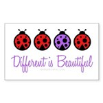 different is beautiful Rectangle Sticker