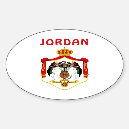 Jordan Coat of arms Sticker (Oval)