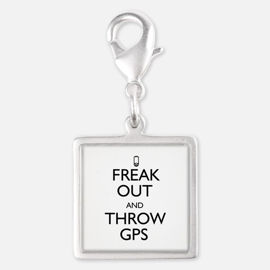 Freak Out and Throw GPS Silver Square Charm