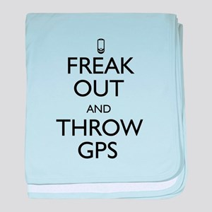 Freak Out and Throw GPS baby blanket