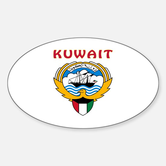 Kuwait Coat of arms Sticker (Oval)