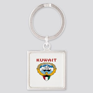 Kuwait Coat of arms Square Keychain