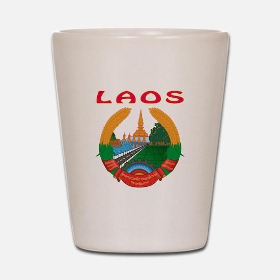 Laos Coat of arms Shot Glass