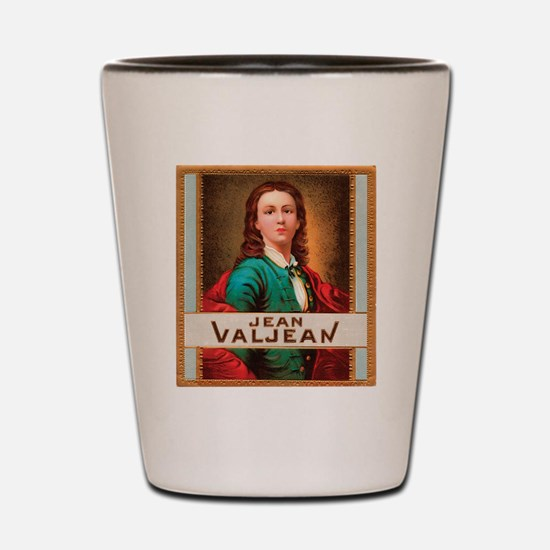 Jean Valjean Tobacco Label Shot Glass