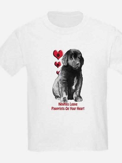 Newfy Puppy Pawprints T-Shirt