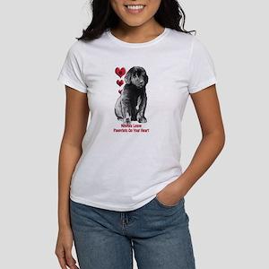 Newfy Puppy Pawprints Women's T-Shirt