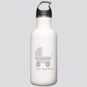 Gray Stroller and Text. Stainless Water Bottle 1.0