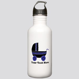 Stroller and Black Text Stainless Water Bottle 1.0