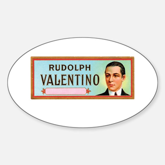 Rudolph Valentino Cigars Sticker (Oval)