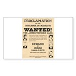 James Younger Gang Wanted Sticker (Rectangle 50 pk
