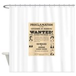 James Younger Gang Wanted Shower Curtain