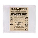 James Younger Gang Wanted Throw Blanket