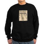 James Younger Gang Wanted Sweatshirt (dark)
