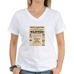 James Younger Gang Wanted Women's V-Neck T-Shirt