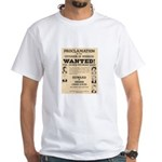 James Younger Gang Wanted White T-Shirt