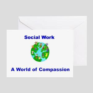 Social Work World Greeting Cards