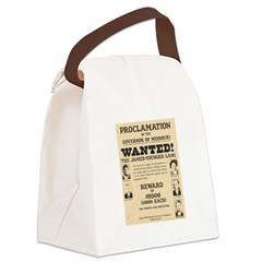James Younger Gang Wanted Canvas Lunch Bag