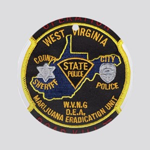 West Virginia Narcs Ornament (Round)