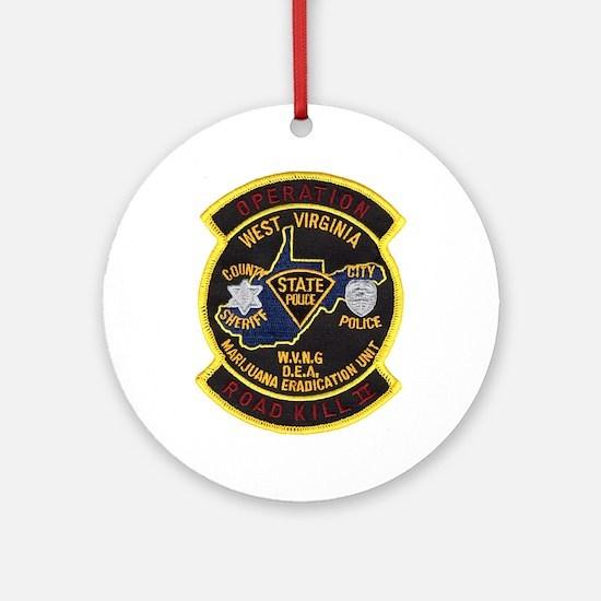 West Virginia Narcs Ornament (Round)